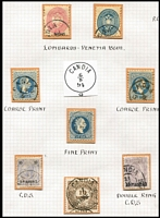 Lot 1217 [3 of 3]:1860s-1900s Issues Used in Candia (Crete): with values to 10s and 10pi on 2k with part or large-part Candia or Canea datestamps including very fine & complete 'SPEDIZIONE POSTALE/CANEA on 2pi on 20k green block of 4 also British POs in Crete 1899 10pa SG #84 with Candia (Oesterreichische Post) datestamp. (15 items)