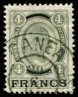 Lot 1037:1903-04 French Currency 4f green SG #F7, with fine large-part 'CANEA (Crete) datestamp, few short perfs, Cat £850