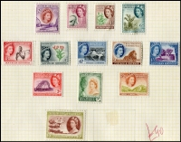Lot 8 [6 of 6]:British Commonwealth in several folders/binders plenty of commemorative sets and short definitive sets noted Kelantan 1937 Chef's Hat 30 used and $1 MLH, New Zealand 1934 7d Blue Airmail used, Rhodesia & Nyasaland 10/- and £1 definitives used, Southern Rhodesia 1953 definitives set MLH and a folder of retired exchange sheets. Other countries incl: South Africa, Straits Settlement, Sudan, Swaziland, Transvaal, KUT, Zanzibar, Johore, Malaya, Pakistan, India, Sarawak, Sierra Leone and many more. Inspection a must! (1,000s)