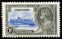 Lot 1279:1935 Silver Jubilee 1d variety Extra flagstaff SG #113a, fine mint, Cat £140.
