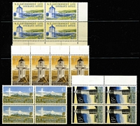 Lot 464 [2 of 2]:1947-69 Lighthouse Life Insurance duplicated array on stockpage with 1947 set mint and used to 1/-, 1969-76 Decimals including 15c P13½ marginal block of 4 MUH (CP #X33b, Cat NZ$220+) plus mint & MUH singles. (50+)