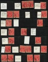 Lot 515 [2 of 7]:Collections and Collection Remainders in albums and folders KGV to decimals, noting KGV 100s of 1d red varieties organised by shade (incl Sub cliché sets x4) and 100s of 1½d red flaws. Plus miscellany in envelopes including, phone cards. Bower birds wanted for this heavy eclectic array. 13kg (1,000s)