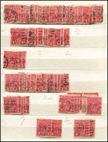 Lot 515 [6 of 7]:Collections and Collection Remainders in albums and folders KGV to decimals, noting KGV 100s of 1d red varieties organised by shade (incl Sub cliché sets x4) and 100s of 1½d red flaws. Plus miscellany in envelopes including, phone cards. Bower birds wanted for this heavy eclectic array. 13kg (1,000s)