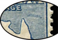 Lot 46 [2 of 2]:2½d Blue variety Colour spot over 'U' of 'AUSTRALIA' - State II - additional retouch east of Cape York, BW #11(2)pa, Cat $175.