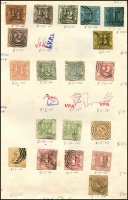 Lot 1416 [3 of 5]:Range on retired VPA circuit sheets with considerable residual value plus an envelope with packeted Württemberg. Also group of Hamburg locals. (200+)