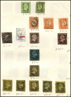 Lot 1416 [4 of 5]:Range on retired VPA circuit sheets with considerable residual value plus an envelope with packeted Württemberg. Also group of Hamburg locals. (200+)