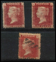 Lot 447 [2 of 5]:1864-79 1d Red Plate Numbers from Plate 71-225 in Lighthouse stockbook with duplication in places noting Plate 222 (3, Cat £150), Plate 223 Cat £75, Plate 225 Cat £800 (heavy cancel) and Plate 202, 204 & 217 mint no gum Cat £250 as mint. (c800)