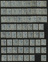 Lot 1654 [4 of 10]:Collection in Two Illustrated Albums [1] with 40 Hagners QV-1994, mostly used, noted Waterlow 10/- Seahorses VFU with some MUH blocks in the QEII period. [2] Stockbook with KGV period cylinder numbers, mostly in pairs and strips (MUH/MLH), KGVI period cylinder number blocks (MUH) and QEII period plate number and traffic light blocks (MUH). At the back an array of British Commonwealth. (100s)
