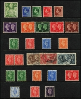 Lot 1654 [6 of 10]:Collection in Two Illustrated Albums [1] with 40 Hagners QV-1994, mostly used, noted Waterlow 10/- Seahorses VFU with some MUH blocks in the QEII period. [2] Stockbook with KGV period cylinder numbers, mostly in pairs and strips (MUH/MLH), KGVI period cylinder number blocks (MUH) and QEII period plate number and traffic light blocks (MUH). At the back an array of British Commonwealth. (100s)