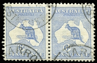 Lot 110:6d Blue, Watermark Inverted, BW-ACSC #17a, commercially used pair, Cat $2,000. The only multiple we have seen