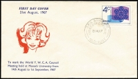 Lot 774:Napier 1967 4c World YMCA Council tied by GPO BRISBANE '21AUG1967' FDI cancel to FDC with scarce cachet, unaddressed.