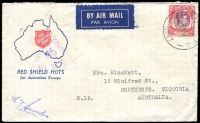 Lot 1583 [2 of 2]:Malaya 1941 (May-Jul) covers to Australia bearing Malaya 25c or unstamped and 'A.I.F. FIELD P.O.' cds Nos. '17' and '18', respectively, when in use at Seremban and Pt Dickson, Negri Sembilan, triangular Censor handstamps '2675' and '2991', a little roughly opened. (2)