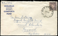 Lot 634 [5 of 5]:Netherlands East Indies 1945 Forces in NEI useful cover selection comprising 'A.I.F. FIELD P.O.' 53 and 54, 'FIELD POST OFFICE' 033 (registered - Proud Not seen) and 036, and 'AUST F.P.O./170' (lustful screenprint!), in use at Macasser, Celebes, Balikpapan, Morotai (Sabatai River), Tarakan, and Morotai, respectively, nice group for display. (5)