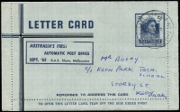Lot 783:1959-65 5d Dark Blue QEII with Automatic Post Office overprint, cancelled by special cds 1962 (Sep 26) during the ten days of opening, sealed, no message within, BW #LC84c.