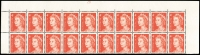 Lot 614 [2 of 3]:1966-73 4c Red Helecon Paper Plate 28 block of 20 x2, plus small grouping of other values. (70)