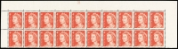 Lot 614 [1 of 3]:1966-73 4c Red Helecon Paper Plate 28 block of 20 x2, plus small grouping of other values. (70)