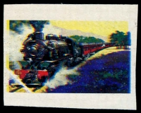 Lot 698 [1 of 2]:1979 Steam Locomotives imperf valueless colour trial based on the 50c Pichi Richi design, plus issued stamp. (2)