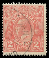 Lot 398 [1 of 6]:1d to 3d varieties including 1d red Rusted top right corner 71(2)e, 1½d green Diagonal gash below ear 88(14)d, 1½d brown Retouched SE corner 85(5A)g, 1½d red Eight wattles at right 89(15)j, 2d orange Die I Retouched LIA in AUSTRALIA 95(6)d, 2d red White flaw on T of TWO 96(11)d plus others. (23)