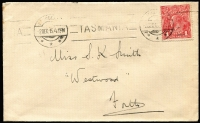 Lot 174 [2 of 5]:1d Red shades selection on 1915-18 covers comprising Dull Red (semi-surfaced), Scarlet-red, Scarlet (Aniline), Rose and Rose-carmine (BW #71E,G,I,K,L). (5)