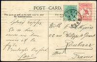 Lot 2:1d Red Die I and NSW ½d blue-green tied by The 