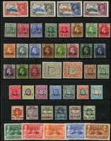 Lot 2114 [4 of 4]:British Empire Collection of Barbados 1935 Silver Jubilee set £140, 1939 Assembly set MUH £180, British Honduras 1915-16 KGV 1c to 5c £140, British Virgin Islands 1921 KGV ½d and 1d Cat £85, Cayman Islands 1921-26 KGV Script watermark set ¼d to 10/- £450, Great Britain 1882-1901 QV 'I.R./OFFICIAL' 6d grey £325, Kenya - British East Africa 1903-04 KEVII 20R £180 and 50R - missing perforation, 1907-08 set 1c to 75c £250, Malaysian States - Johore 1922-41 Sultan Script watermark set 1c to $10 £1,000, 1938 Postage Due set 1c to 12c MUH £160, Niger Coast 1892-94 QV Oil Rivers set ½d to 1/- £300, Nyasaland 1945 KGVI set ½d to 20/- MUH mint £550, Nigeria - Southern 1901-02 QV set ½d to 10/- £225, 1912 KGV set ½d to £1 £275, Trinidad and Tobago 1935 Silver Jubilee set £110, 'WAR' or 'WAR TAX' on Antigua 1916-18 set of 3 £120, Fiji 1915-19 ½d and 1d £140, Gold Coast 1918 1d on 1d £65, Malta 1917-18 ½d and 3d £150, Montserrat 1917-19 set of 3 £110, St. Lucia 1916 (Sep) 1d £55. Total Cat £5,010 plus 50R BEA. (127)