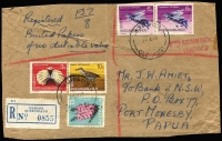 Lot 1244 [2 of 4]:1960s-1970s 1969 Pictorials selection with values to $1 (2) used on covers (15, one parcel piece) within Australia, including airmail, certified and registered usages, generally fine, also selection of 1976 Ships to $1 (pair) similarly used (21).