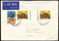 Lot 1244 [1 of 4]:1960s-1970s 1969 Pictorials selection with values to $1 (2) used on covers (15, one parcel piece) within Australia, including airmail, certified and registered usages, generally fine, also selection of 1976 Ships to $1 (pair) similarly used (21).