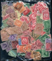 Lot 944 [4 of 5]:Great Britain 0.7kg Off-paper incl KGV, KGVI & QEII Castles, pre-decimal, Machins, Jersey, Guernsey, Isle of Man, etc. (1,000s)