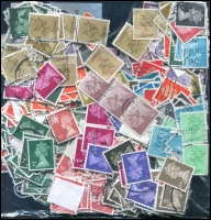 Lot 944 [5 of 5]:Great Britain 0.7kg Off-paper incl KGV, KGVI & QEII Castles, pre-decimal, Machins, Jersey, Guernsey, Isle of Man, etc. (1,000s)