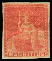 Lot 2000 [3 of 4]:1858-62 No Value Expressed imperforate, (4d) Green used with possible forged 'FOUR-PENCE' surcharge, (9d) Dull Magenta used, unissued red-brown and blue unused/part gum, SG #27-31 (ex 28), Cat £360 (4)