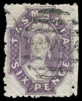 Lot 1248 [2 of 2]:1871-78 Sidefaces Wmk TAS & Lines Perf 12 4d buff irregular perf, SG #153, re-gummed, plus 6d slate-violet with faults SG #75. (2)