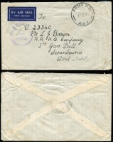 Lot 887 [3 of 12]:Inward Mail to WA mainly to Swanbourne with various 'Opened by Censor', 'Passed by Censor' and 'Department of The Army/Concession Postal Rate' handstamps, Post Office markings incl: FPO 0136 x2, 019, APO AW1 and MPO Bonegilla, Murchison & Caulfield. A very nice range of covers. (12)