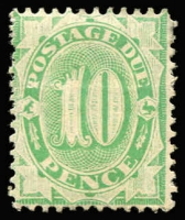 Lot 567 [2 of 3]:1902-04 Design Completed Wmk Crown/NSW 1/- Emerald BW #D37 ($150), 10d Emerald BW #D35 ($150) and 5d Emerald BW #D29 ($150). Total Cat $450. (3)