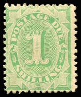 Lot 567 [1 of 3]:1902-04 Design Completed Wmk Crown/NSW 1/- Emerald BW #D37 ($150), 10d Emerald BW #D35 ($150) and 5d Emerald BW #D29 ($150). Total Cat $450. (3)