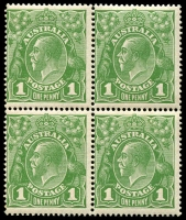Lot 534 [1 of 4]:Collection of Mint Multiples incl SM Wmk 1d green blocks of 4 x3, Ash imprint pairs x3, Inverted block of 6 & marginal strip of 3, 1½d block of 6, 2d Inverted block of 6, CofA Wmk 1d green with 'OS' opt marginal block of 8 and BLC block of 9, plus more. (20 items)