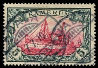 Lot 1575 [1 of 3]:1897-1919 Used Selection on Hagner comprising 1897 3pf to 50pf (2), additional values to 20pf including 3pf grey-brown, 1900-11 	Yachts No Watermark set to 5m, latter with Hans Bothe Certificate, few additional values including 1m on piece, 2m, 1905-19 wmk Lozenges 5pf to 20pf (two of each) etc. Chiefly good to fine, various cancels, Cat £2,200+. (40)