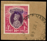 Lot 1813 [1 of 3]:1948 'Peshawar' Handstamps including misplaced and inverted ovpts, etc. Great lot for the specialist. (28)