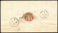 Lot 1214 [2 of 2]:1870 4d & 6d Chalon on cover from Brisbane to Ireland with backstamps 'BRISBANE/MY15/70' and 'H&K PACT/JY10/1870'.
