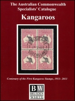 Lot 1068:Australia: Australian Commonwealth Specialists' Catalogue, Kangaroos published by Brusden White in 2013, 5th Edition. Brand new.