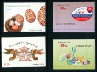 Lot 1834 [5 of 7]:1990s-2000s Booklets unduplicated range incl 1997 Christmas, 1998 Stamp Day plus Slovenia Booklets x17 a few covers and post cards. Cat £500+. (43 booklets)