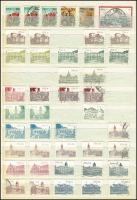 Lot 1828 [5 of 7]:1910 to 1990s Collection in stockbook, includes a few bilingual pairs incl 8d green & orange SG #32, 2/6d green & brown SG #49, good range through the 50s and 60s, a bit light-on thereafter. Cat value stated to be £1,100+. Generally fine, could be some bargains here! (600+)
