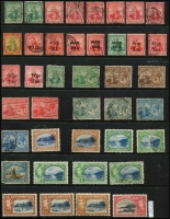 Lot 1839 [3 of 4]:1913-50s Collection comprising a small group with some useful items incl: 4c chocolate SG #249, $4.80 rose-carmine SG #256 plus others, Cat £250+. Generally fine. (100+)