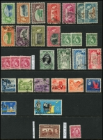 Lot 1839 [1 of 4]:1913-50s Collection comprising a small group with some useful items incl: 4c chocolate SG #249, $4.80 rose-carmine SG #256 plus others, Cat £250+. Generally fine. (100+)