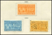 Lot 1871 [2 of 10]:1923-47 Collection mostly complete, includes: 'Nebraska' ovpts 1c to 10c (MUH/MLH set of 11), various Airmails, special delivery, coils, perf variations, Roosevelt 1c & 3c marginal blocks plus more. Great value at estimate. (200+)
