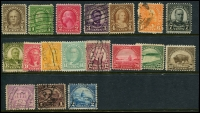 Lot 1871 [4 of 10]:1923-47 Collection mostly complete, includes: 'Nebraska' ovpts 1c to 10c (MUH/MLH set of 11), various Airmails, special delivery, coils, perf variations, Roosevelt 1c & 3c marginal blocks plus more. Great value at estimate. (200+)