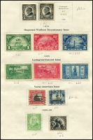 Lot 1871 [6 of 10]:1923-47 Collection mostly complete, includes: 'Nebraska' ovpts 1c to 10c (MUH/MLH set of 11), various Airmails, special delivery, coils, perf variations, Roosevelt 1c & 3c marginal blocks plus more. Great value at estimate. (200+)