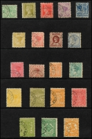 Lot 876 [2 of 2]:Stamp Duty CTO Collection from ½d green to £1 St George with part MELBOURNE cancel, no duplication. (21)