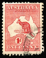 Lot 18:1d Red Die I Wmk sideways - crown pointing to left when viewed from the back, BW #2ab, fine used, few missing perfs, Cat $450. Rare stamp.