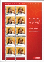 Lot 247 [1 of 4]:2008-16 Olympic Sheetlets for both Summer and Winter Olympics which include the Winter Games of 2010. Paralympian sheetlets for 2008, 2012 and 2016. Face value $270+. (2008 issue includes both lithograph and digital issues). (100s)