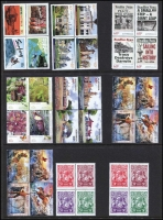 Lot 207 [2 of 2]:1969-2015 with various issues in large pieces and blocks of 4. 1971 Christmas issues block of 7 & corner block of 9 & cream paper block of 25. The 1969 Kingsford Smith issue are in blocks of 9. Face value c.$180. (100+)